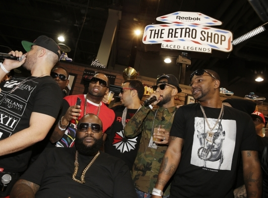 "Reebok Classic ""Retro Shop"" @ Agenda Featuring Swizz Beatz, Rick Ross, and Cam'ron"