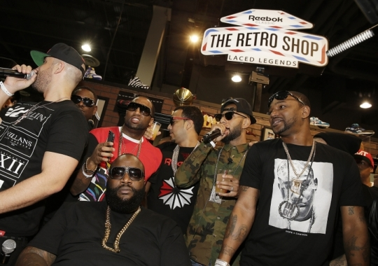 "Reebok Classic ""Retro Shop"" @ Agenda Featuring Swizz Beatz, Rick Ross, and Cam'ron"