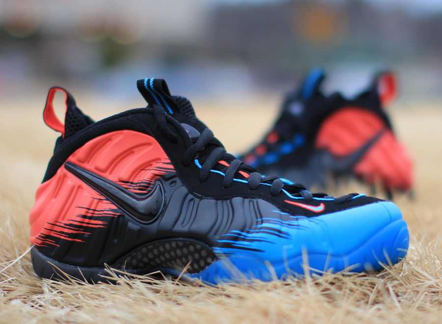 33be679bc7e ... best price blueblacklight crimson nike air foamposite pro spider man is  the first foamposite release of