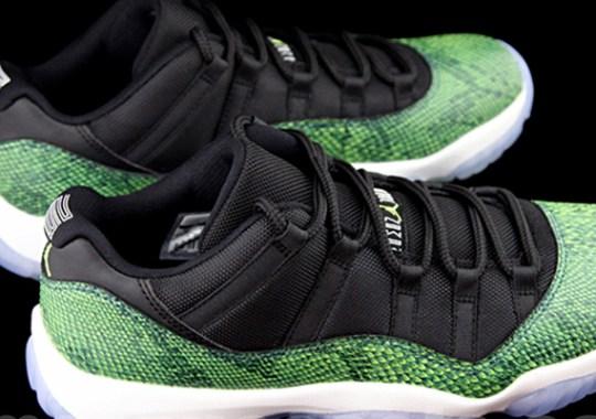 """Air Jordan 11 Low """"Green Snake"""" – Release Date"""