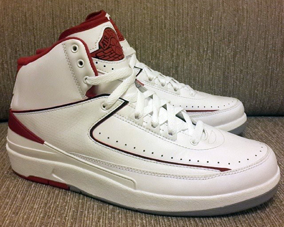 d73b00bac6c1 Air Jordan 2 Retro - White - Red - SneakerNews.com