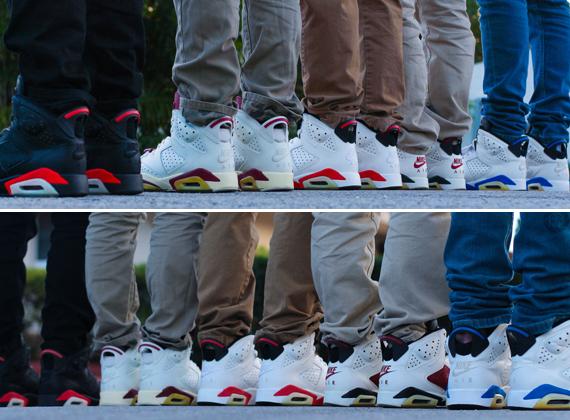 more photos 428ea 40cea A Complete Set of Restored Air Jordan 6 Originals ...