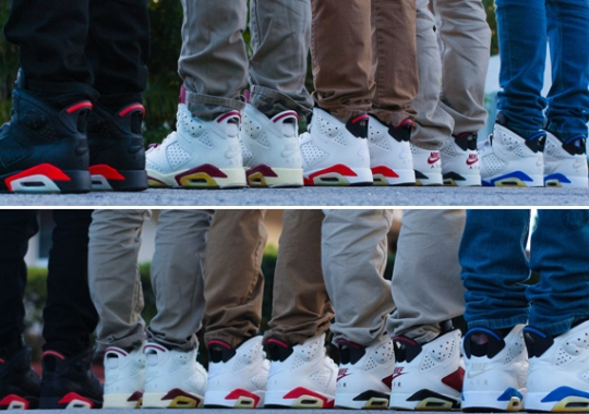 A Complete Set of Restored Air Jordan 6 Originals