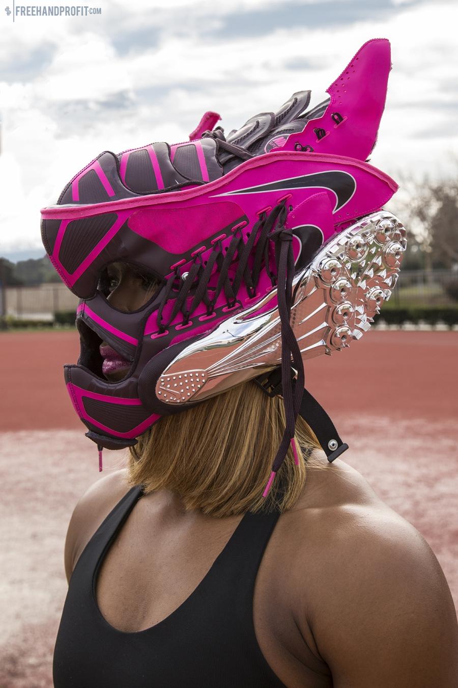 Freehand Profit Creates Sneaker Mask For Carmelita Jeter