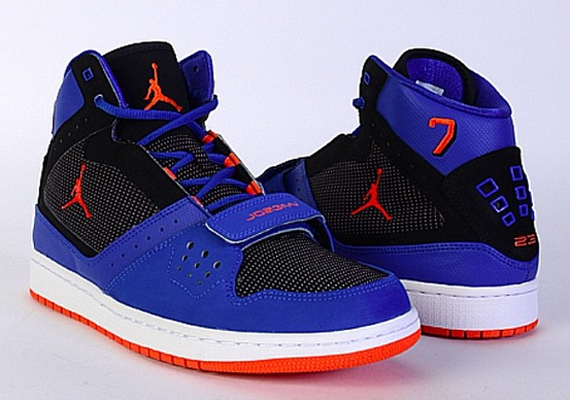Mens Air Jordan Flight Team Blue Black shoes