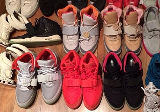 Kanye West's Yeezy Sneaker Rotation
