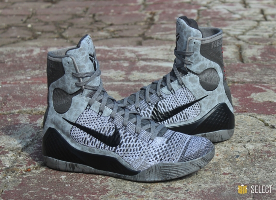 "finest selection d8bca 3366d Nike Kobe 9 Elite ""Detail"" Color  Base Grey Black Style Code  630847-003.  Release Date  03 22 14. Price   225"