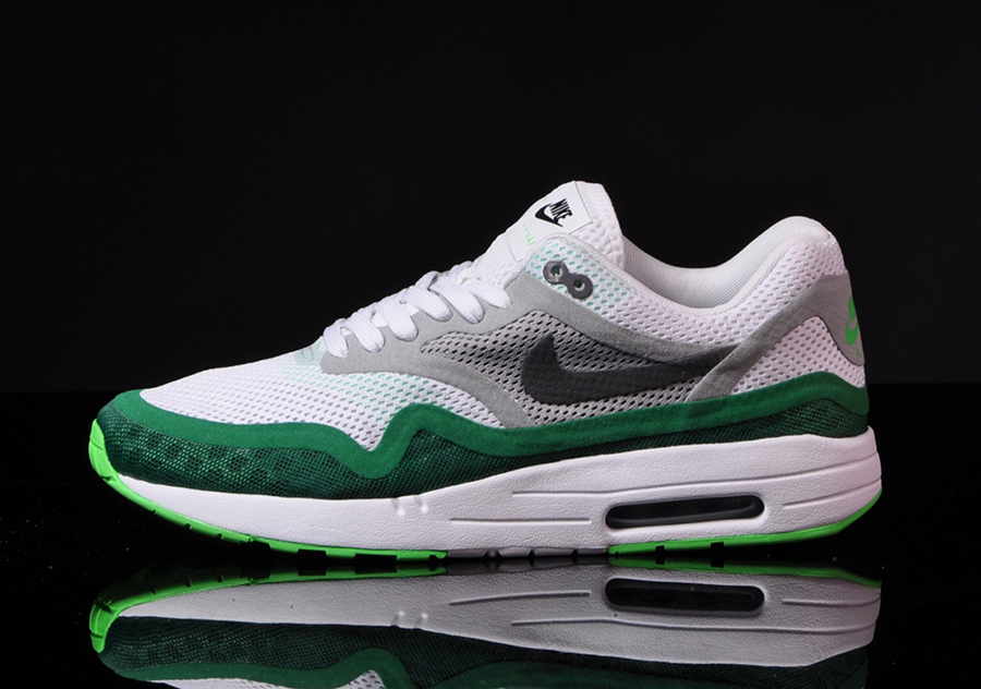 images of green and white nike air maxs