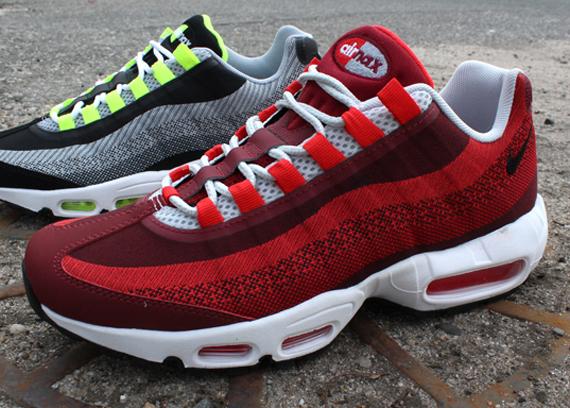 nike air max 95 jacquard university red color