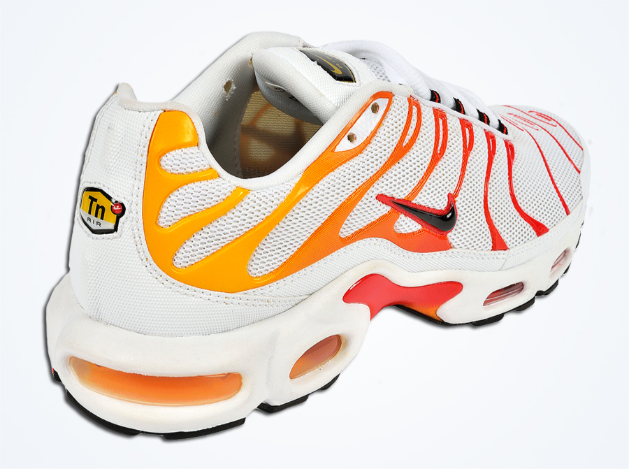 nike air max tn white orange