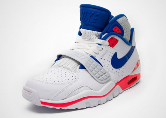 bf5accbdc1fc Nike Air Trainer SC II High - White - Game Royal - Laser Crimson -  SneakerNews.com