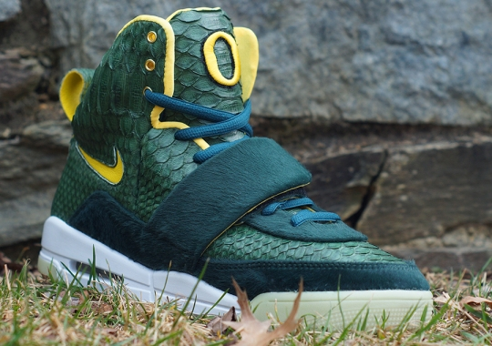 """Nike Air Yeezy """"Oregon"""" by JBF Customs"""