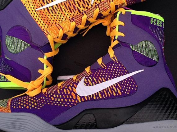 huge discount 57374 4516f Nike Kobe 9 Elite – Court Purple – White – Laser Orange – Wolf Grey