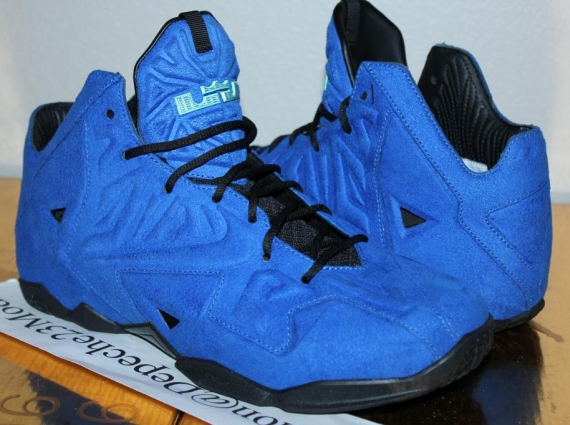 """size 40 32f44 9dbfd Nike LeBron 11 EXT """"Blue Suede"""" Sample on eBay"""