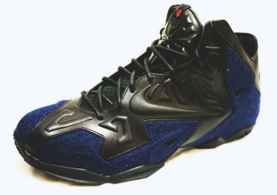 """Nike LeBron 11 EXT Goes """"James Dean"""" with Denim and Leather"""