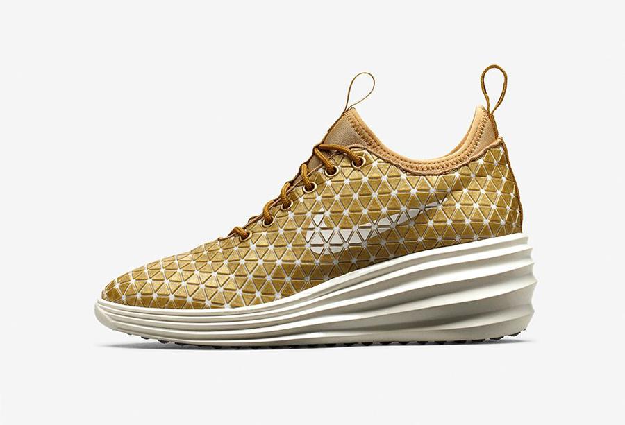 "75dafcfa4318 Nike Lunar Elite Sky Hi QS FW ""London"" Color  Metallic Gold Sail Style  Code  652902-700. Release Date  03 29 14. Price   130"