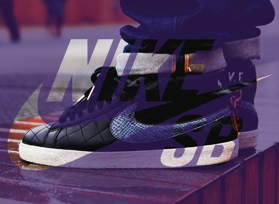 Nike Blazer Bas Violet Centres