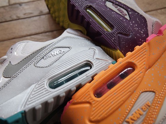 nike wmns air max 90 splatter three colorways 01 Nike Womens Air Max 90 Splatter in Three Colorways