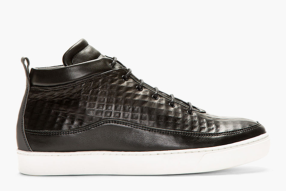 public school sneakers Public School Leather Midtop Sneaker   Ssense Exclusive