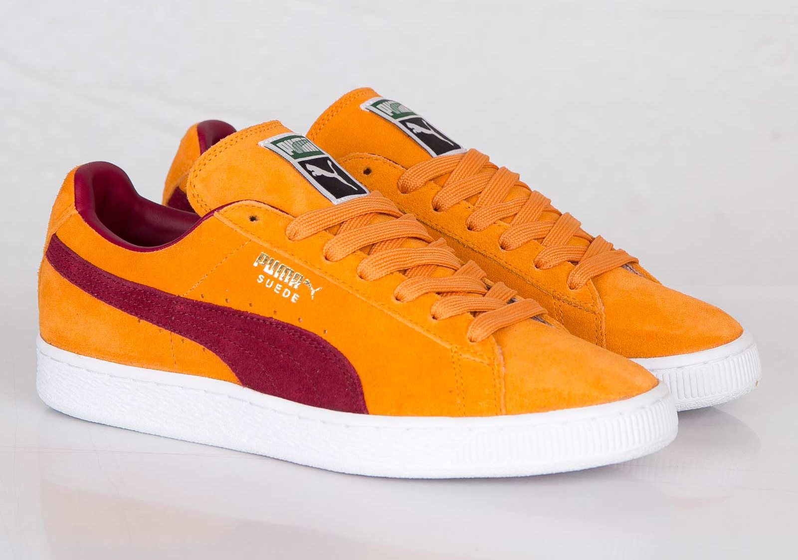puma suede classic bright marigold pomegranate. Black Bedroom Furniture Sets. Home Design Ideas
