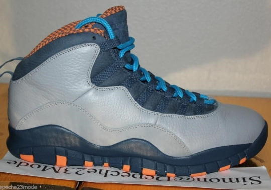 "An Unreleased Leather Sample of the Air Jordan 10 ""Bobcats"""
