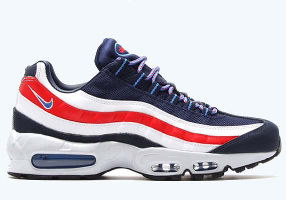 nike air max 95 red and blue