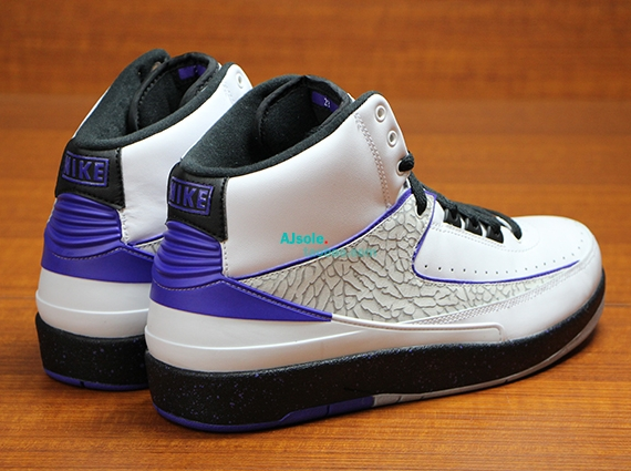 "b8b7c539a1fd Air Jordan 2 ""Elephant Print"" Color  White Dark Concord-Black-Wolf Grey  Style Code  385475-153. Release Date  05 10 14. Price   150 Available on  eBay"