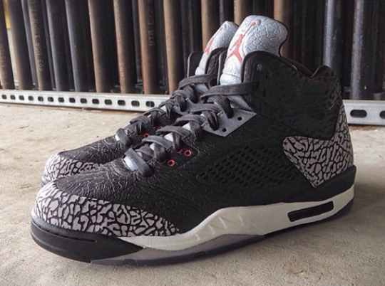 "Air Jordan 3Lab5 ""Black/Cement"" by Mache Customs"