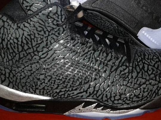 Air Jordan 3Lab5 – Black – Metallic Silver