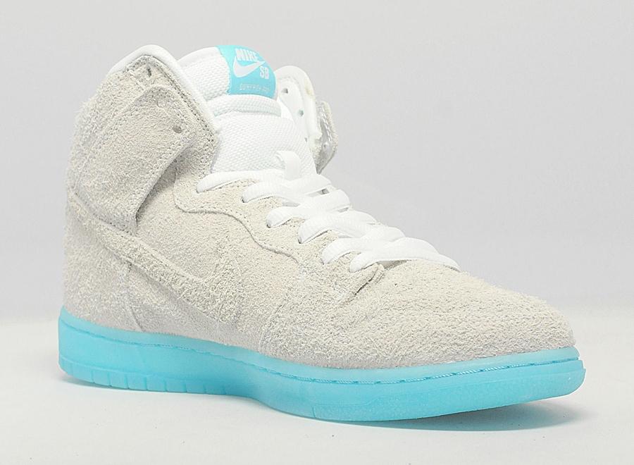 wholesale dealer c2fbc 3e8b0 ... 313171- Nike Dunk High Premium Sb Chairman Bao Baohaus White Polarized  Blue Size 9 .