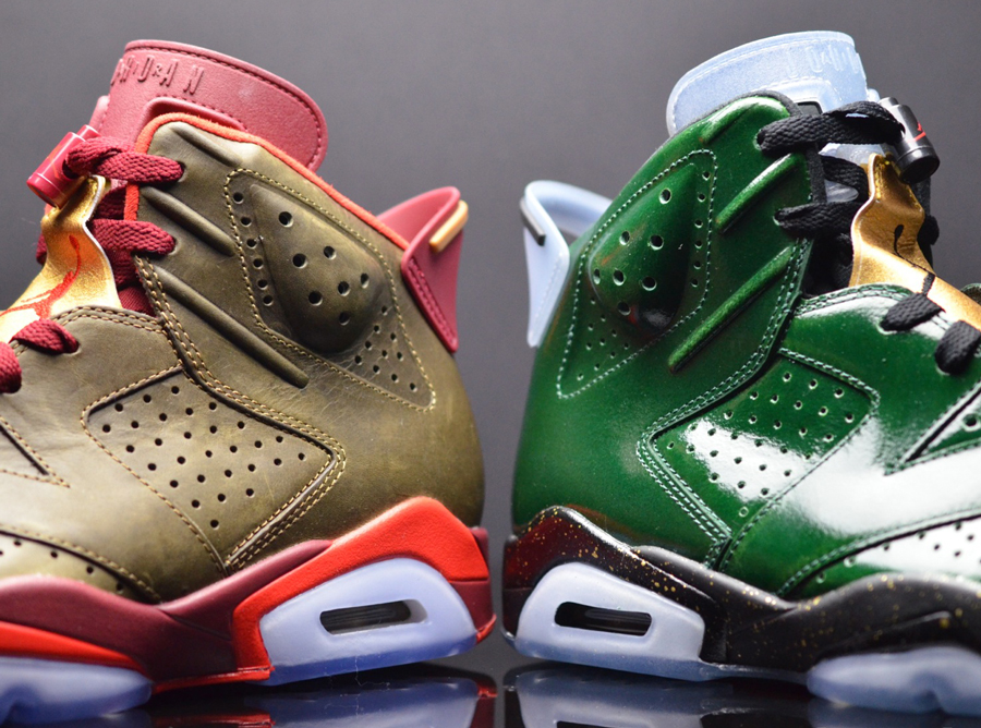 "A Detailed Look at the Air Jordan 6 ""Champagne"" & ""Cigars"" Pack"
