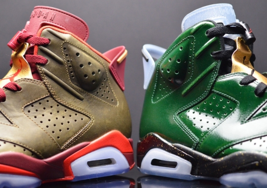 """A Detailed Look at the Air Jordan 6 """"Champagne"""" & """"Cigars"""" Pack"""