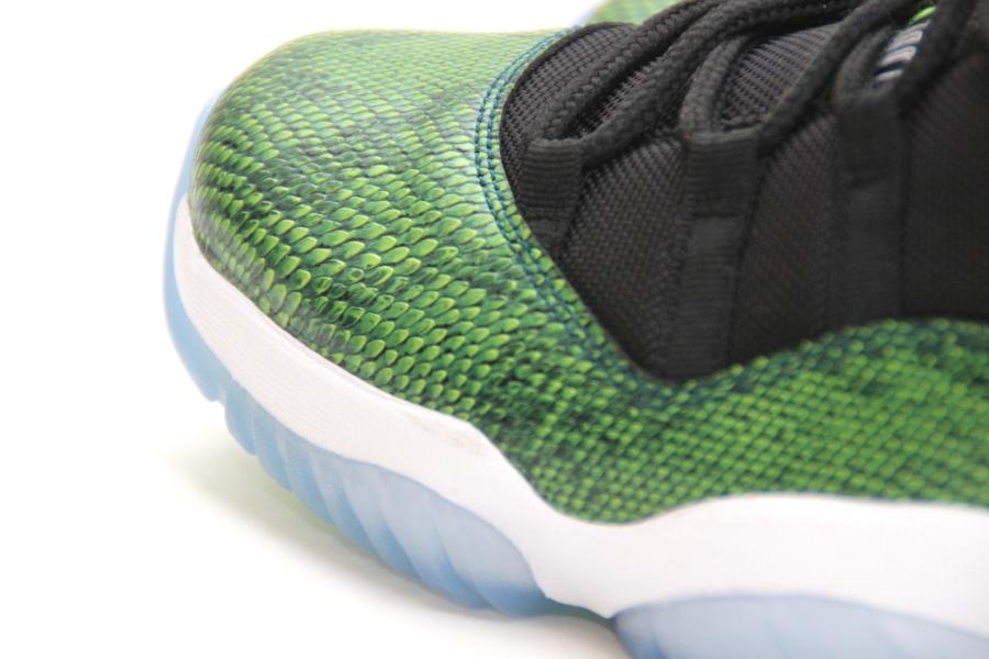 "best website c1068 66408 Air Jordan 11 Low ""Green Snakeskin"" Color  Black Nightshade-White-Volt Ice  Style Code  528895-033. Release Date  04 19 14. Price   150. Advertisement.  show ..."