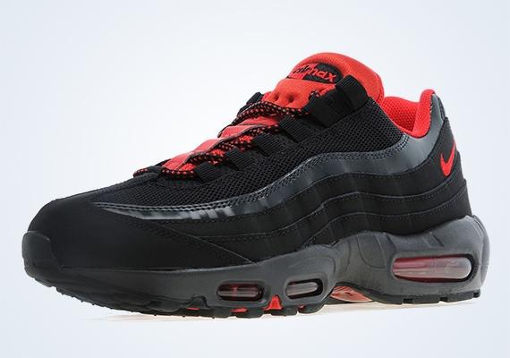 Nike Air Max 95 Negro / Rojo Universales xTj9Bi90i