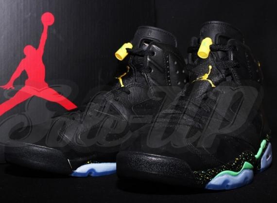sports shoes 4396a 5d16a Air Jordan 6 – Black – Green – Yellow