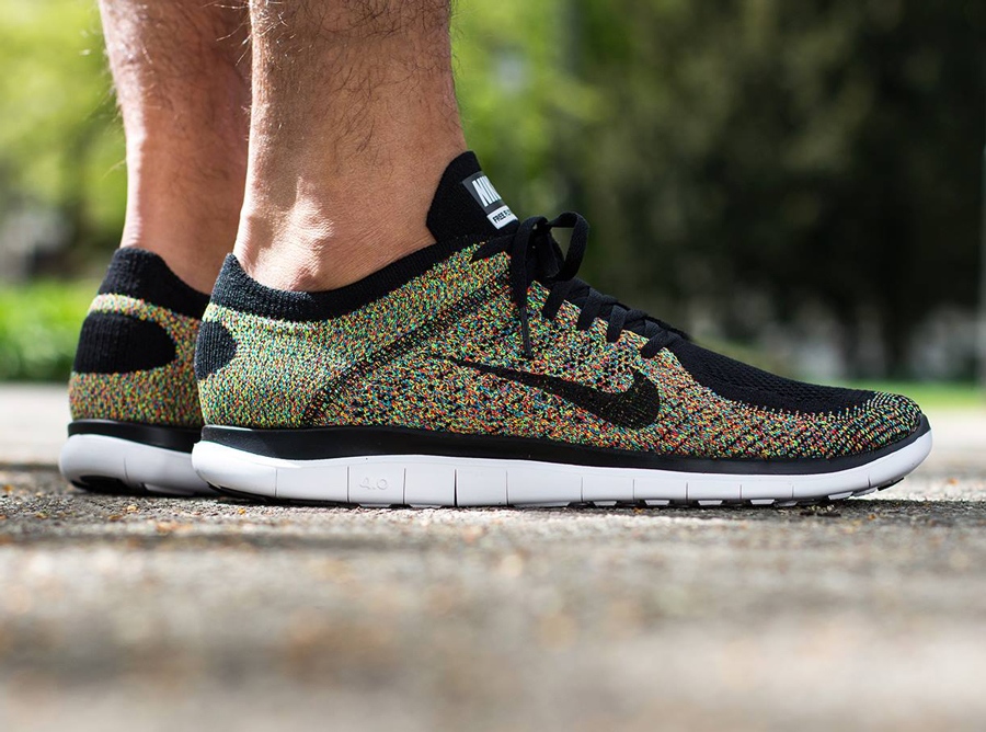 Nike Flyknit 4.0 Mens Baskets Multicolores
