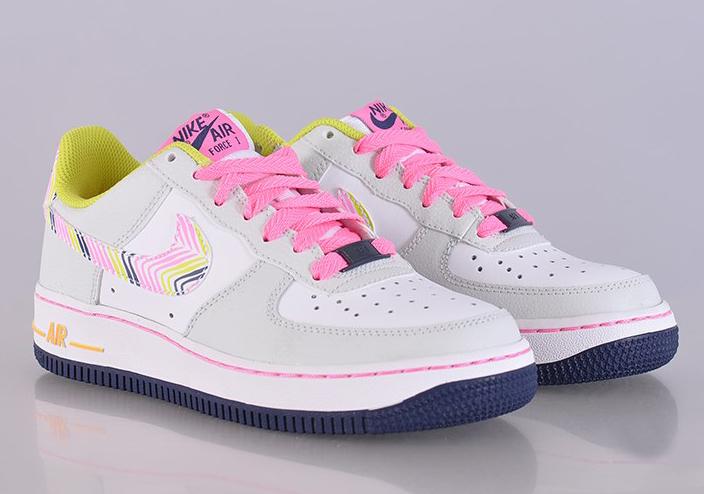salomon formateurs - Nike Air Force 1 GS - Light Base Grey - White - Pink Glow ...