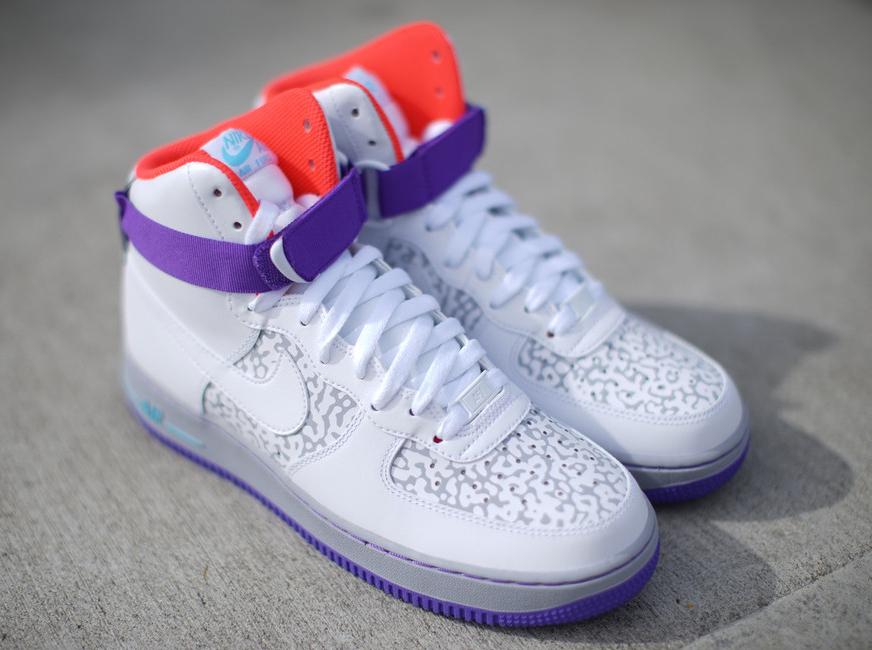 nike air force 1 high white white wolf grey purple venom af1