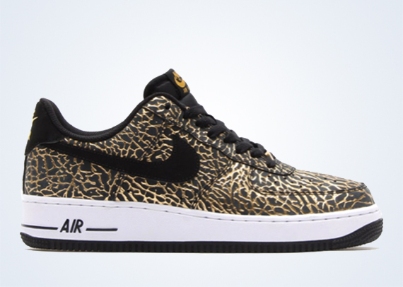 black and gold nike air force ones
