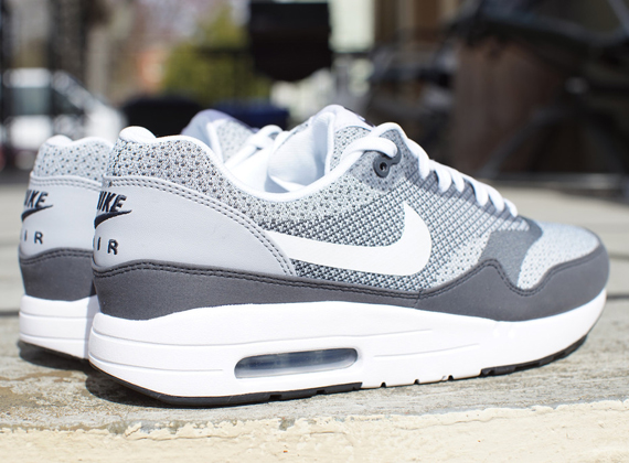 White Nike Max Grey Air Jacquard 1 2YWE9HID