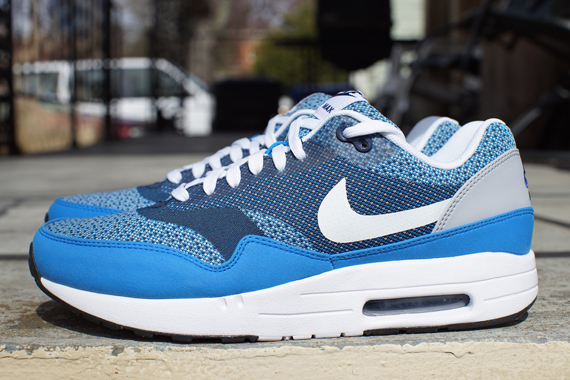 nike air max 1 blue grey white color