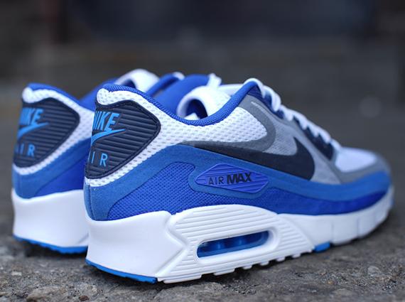af3afcf50c8b0c Nike Air Max 90 Breathe - White - Dark Obsidian - Cool Grey ...