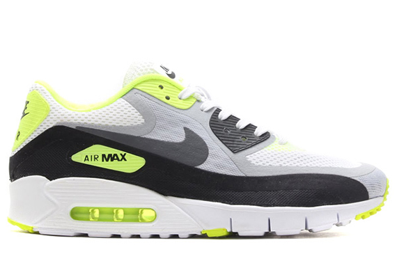 Nike Air Max 90 Breathe - White - Wolf Grey - Volt - Black - SneakerNews.com