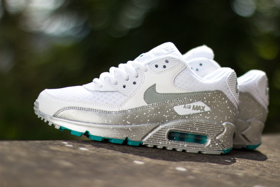 official photos b7a98 9ef58 Nike Womens Air Max 90. Color  White Metallic Silver-Metallic Silver Style  Code  325213-125. Advertisement