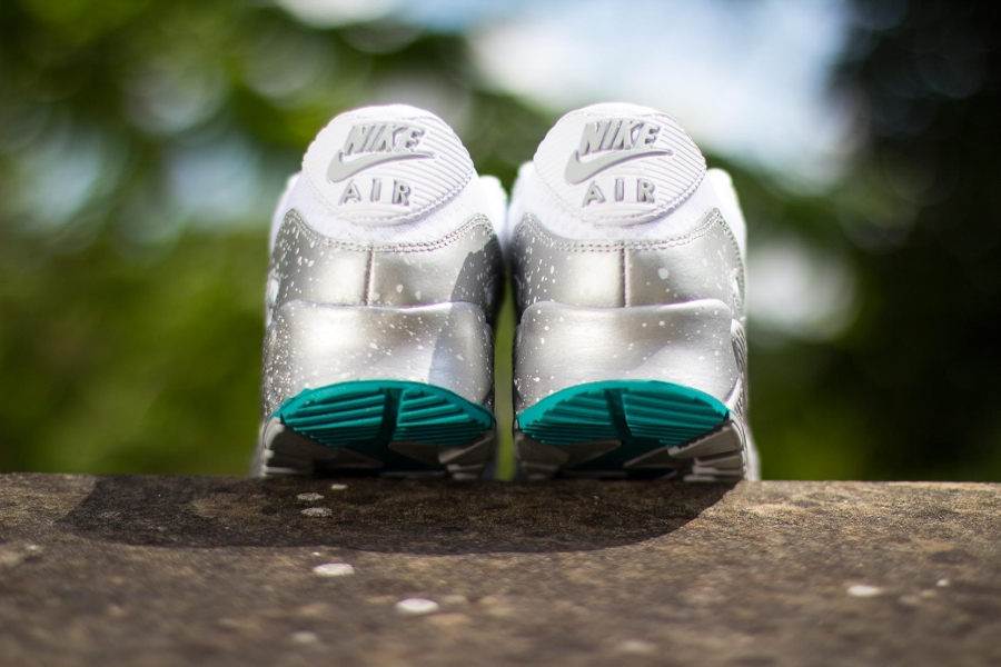 acfb840ffe49b2 Nike Womens Air Max 90. Color  White Metallic Silver-Metallic Silver Style  Code  325213-125. show comments