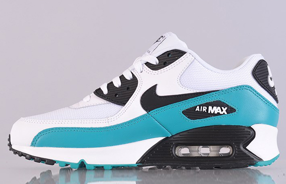 nike air max 90 grey white black turquoise