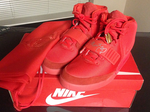 "online store 9668d 42667 Nike Air Yeezy 2 ""Red October"" Autographed by Kanye West"
