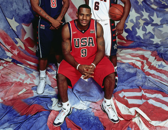 """64ec5a8a9a8c8 LeBron James  Nike Air Zoom Generation """"Team USA"""" PE for the 2004 Olympics"""
