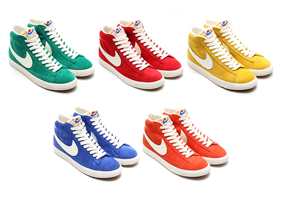 new product 86673 3d6d9 A couple of weeks ago we were treated to a preview image of the classic Nike  Blazer Mid featuring a multi-color stitching on the back heel.