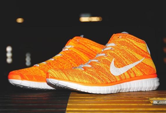 flyknit chukka orange